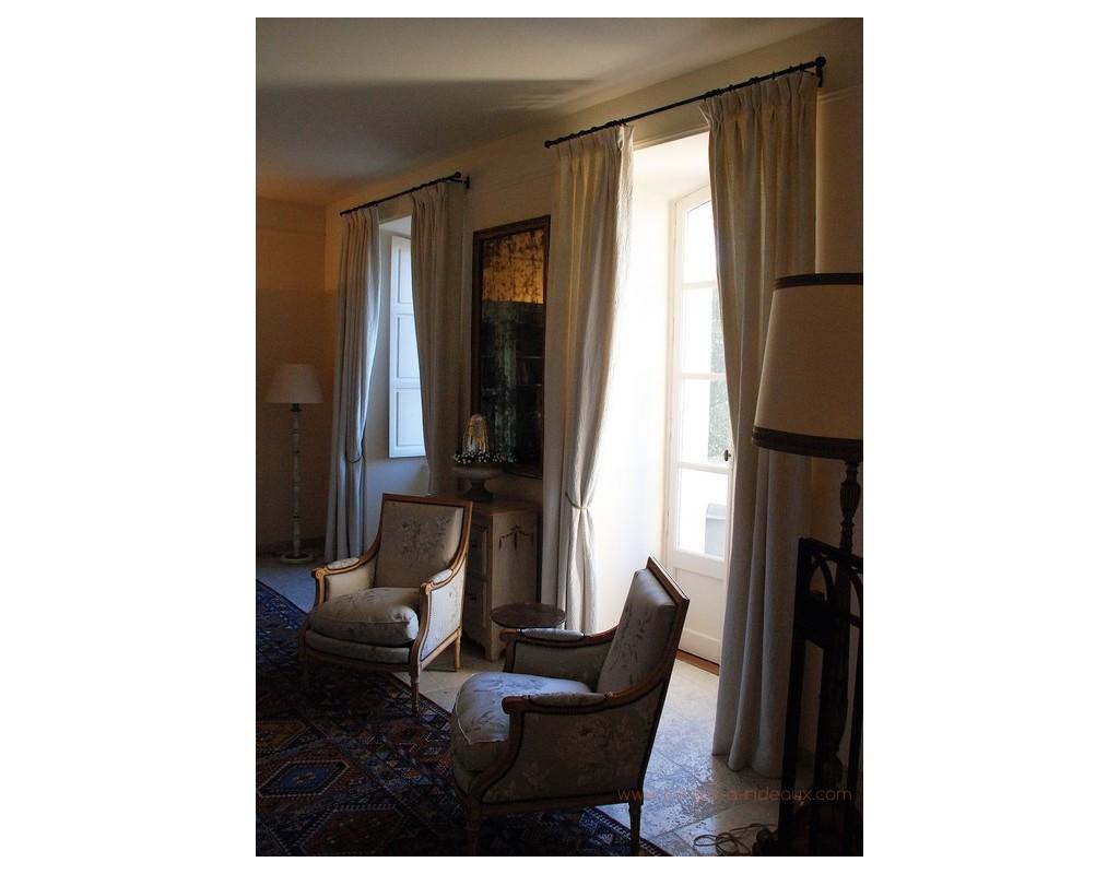 tringle rideaux droite tube sur mesure en fer forg. Black Bedroom Furniture Sets. Home Design Ideas