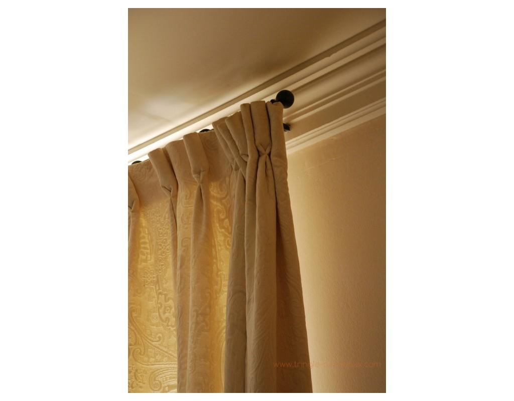 Tringle rideaux droite tube sur mesure en fer forg tringle a - Tringle a rideaux 5 metres ...