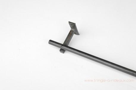 Tringle à rideaux Droite simple 16 sur-mesure en fer forgé sans embout - détail