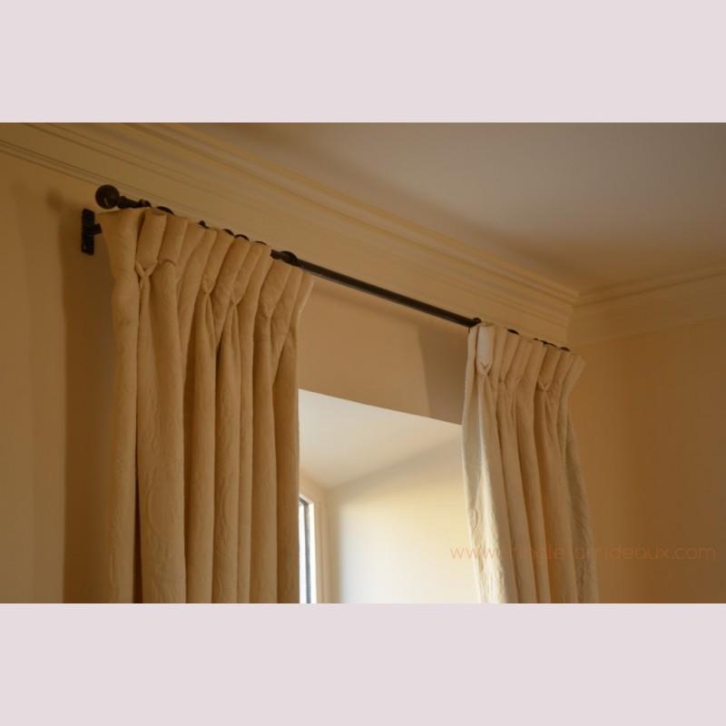 Tringle rideaux droite standard sur mesure en fer forg - Tringle a rideau sur mesure ...