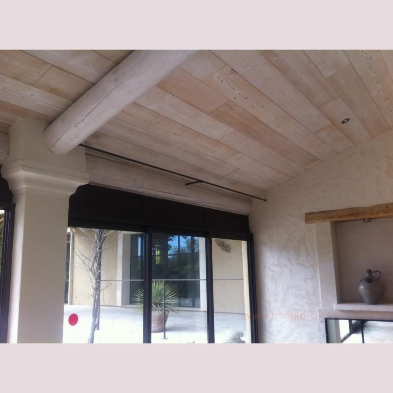 great tringle rideaux mur mur surmesure en fer forg exemple with barre rideau entre mur. Black Bedroom Furniture Sets. Home Design Ideas