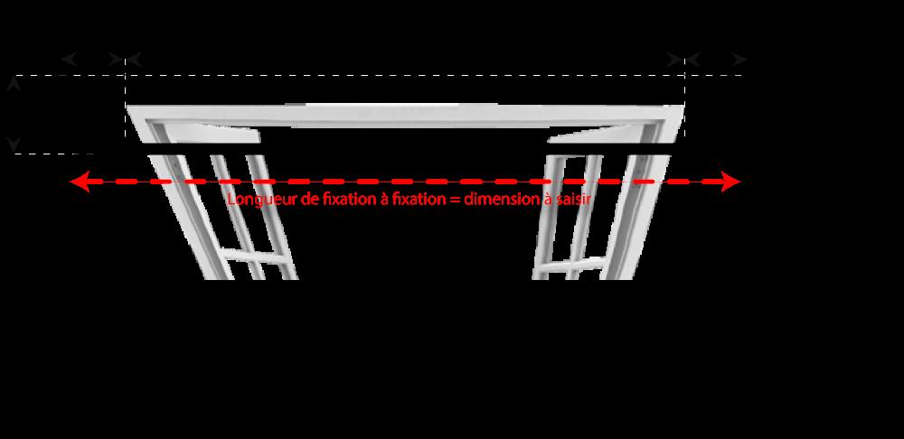 tringle rideaux coud e petit mod le sur mesure en fer forg tringle a. Black Bedroom Furniture Sets. Home Design Ideas