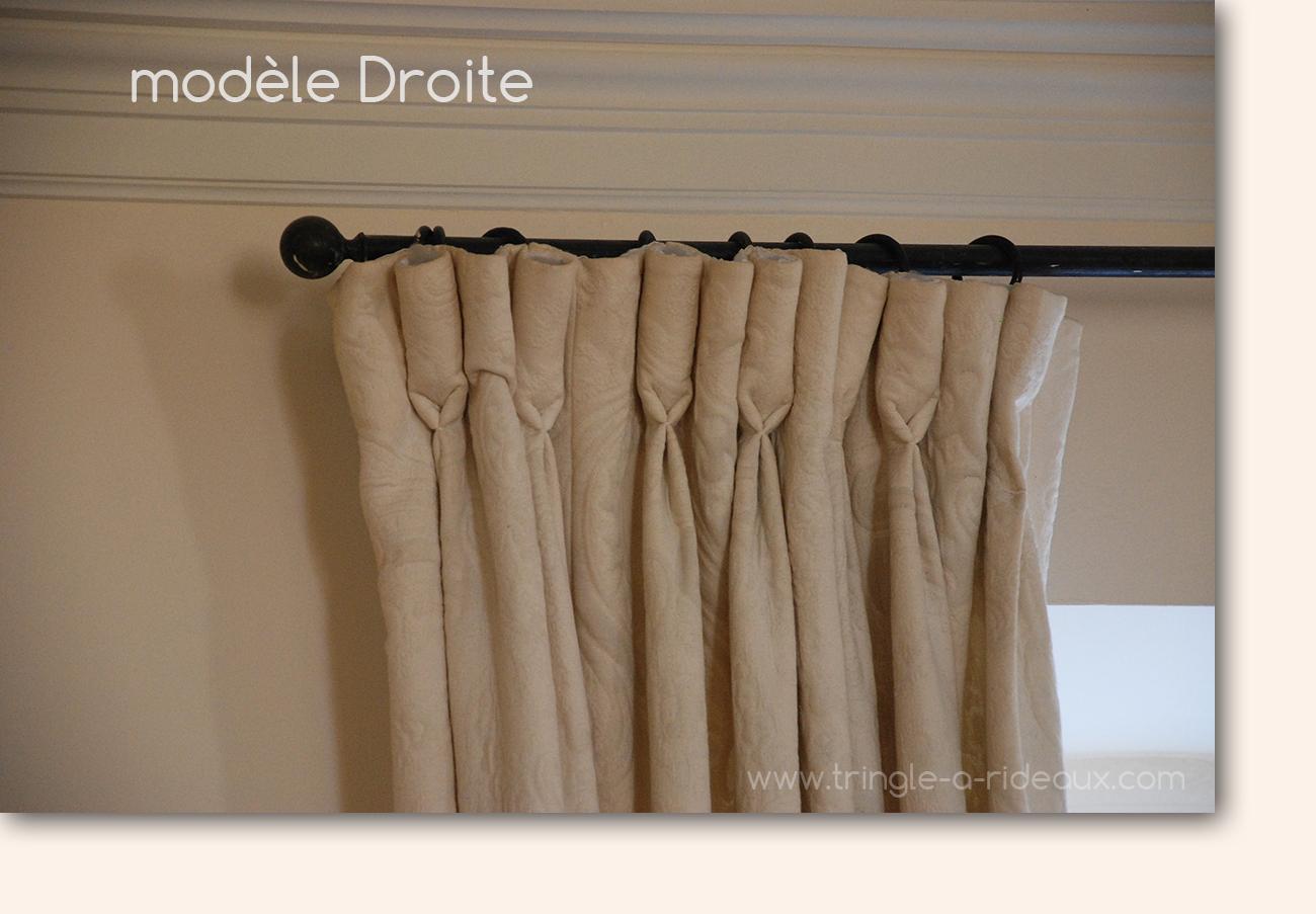 modèle Droite de tringle-a-rideaux.com, le spécialiste de la tringle à rideaux sur mesure en fer forgé