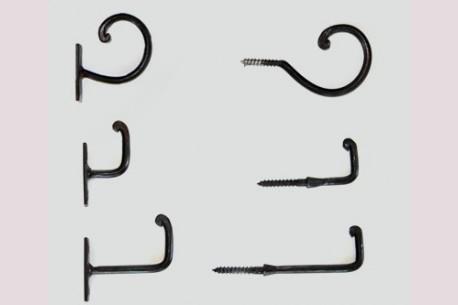 Crochets d'embrasses tringle à rideaux
