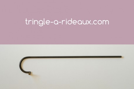 Tringle à rideaux provençale naissance simple 16 sur-mesure en fer forgé - produit