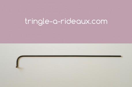 Tringle à rideaux Luberon naissance simple 12 sur-mesure en fer forgé - produit