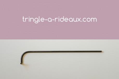 Tringle à rideaux Luberon naissance simple 16 sur-mesure en fer forgé - produit