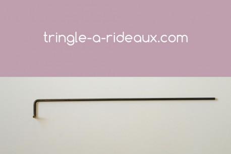 Tringle à rideaux Coudée naissance simple 12 sur-mesure en fer forgé - produit