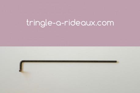 Tringle à rideaux Coudée naissance simple 16 sur-mesure en fer forgé - produit