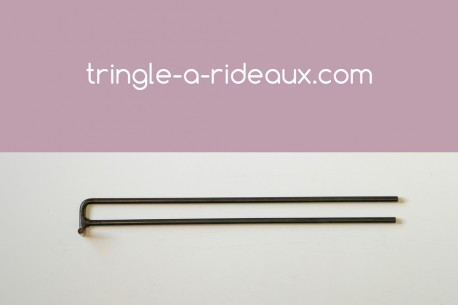 Tringle à rideaux Coudée naissance double 16 sur-mesure en fer forgé - produit