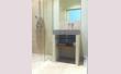 Tringle à rideaux Mur à Mur 12 sur-mesure en fer forgé - salle de bain