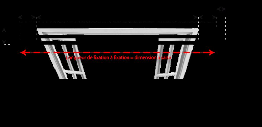 Taille Standard Rideau tringle à rideaux droite double sur mesure en fer forgé - tringle-a